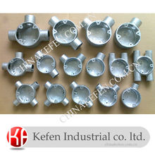 EN50086 Galvanized Malleable Iron Junction Box/BS4568 Electrical Rigid Conduit Box 20mm 25mm 32mm