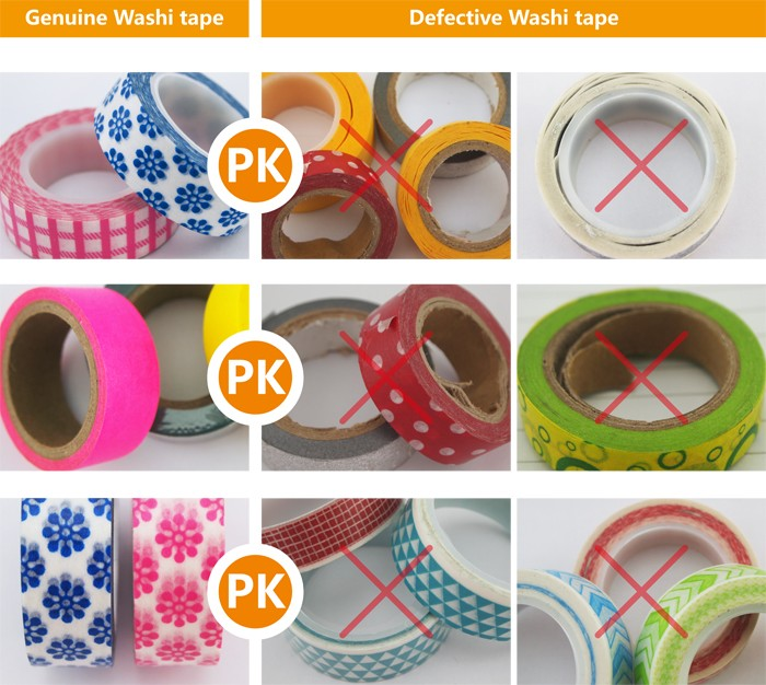 Custom printed decorative trim tape for Birthday card mask adhesive