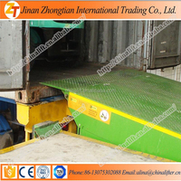 Warehouse used car ramp stationary dock leveler dock ramps for hot sale price