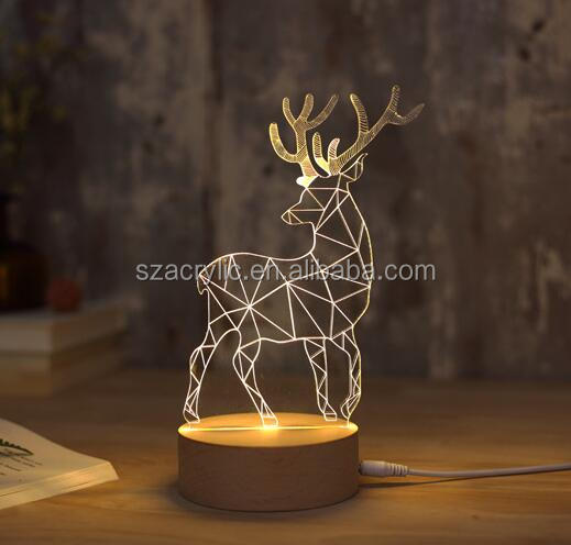 custom acrylic table lamp acrylic desk night light