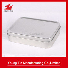 rectangluar plain first aid kit metal tin box