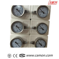 all stainless steel bourdon tube pressure gauge manometer for corrosion environment