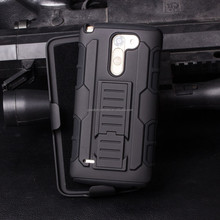 High Quality 3 in 1 Stand Holster Combo Case with 180 Degree Swivel Wholesale Combo Holster Robot Case For Lg G2 D802