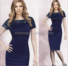 Z51446B Wholesale elegant designer ladies office wear dresses dress