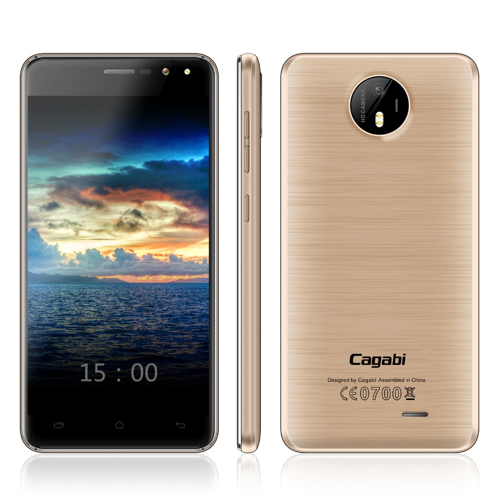 Free Sample OEM Cagabi One 5 inch MTK6580A Quad Core, 5MP+8MP, Memory 1G+8G, Dual SIM Android 6.0 Smart Phone