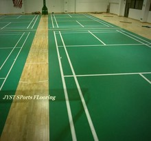 10-50mm Thick badminton court rubber/pvc flooring