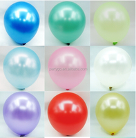 12'' 3.2g pearl oval multicolor latex balloons for party decoration