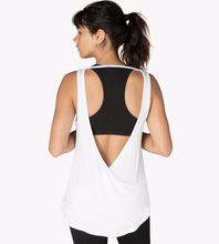 Fancy yoga wear top relaxed fit comfort tank top