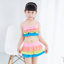 Baby 2 Piece Swimsuit Rainbow Girls Bathing Suit girl's swimming suit