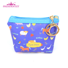 Mini Fancy Design Farm Story Printing Waterproof Pocket Coin Purse