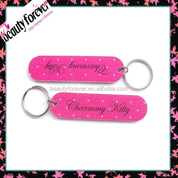 Novelty Hot sale nail file keychain