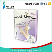 Clear the bacteria on the feet |Make foot skin tender and white|Effectively Foot Peel Spa Socks |Breathable Silicone Heel Socks
