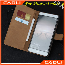 Phone Case Factory Stand Holder Card Slots Leather Phone Case for Huawei mate 9