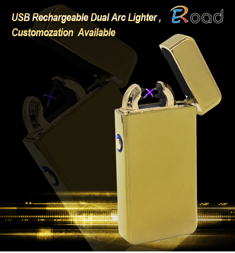 Eroad LED Light Plasma Lighter Windproof Flameless Electric Plasma Lighter