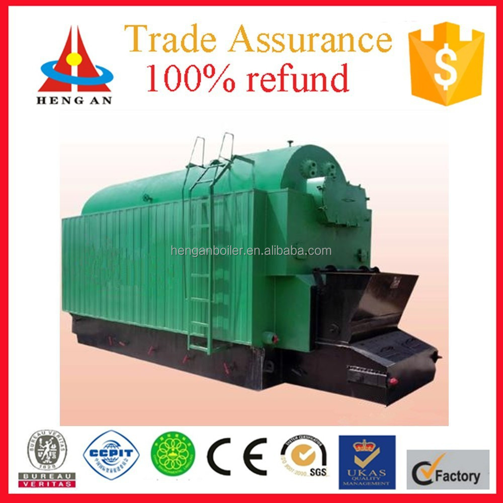 promotional horizontal low pressure water-fire tube single drum chain grate factory price coal-fired steam boiler machine