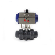PN10 4 Inch 2 Way PVC UPVC CPVC Double Union Pneumatic control Plastic Ball Valve