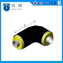 low heat loss underground foam thermal water supply elbow pipe fitting