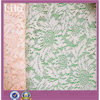 polyester brushed lace fabric clothing material