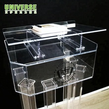 UNIVERSE popular acrylic podium wholesale clear acrylic lectern