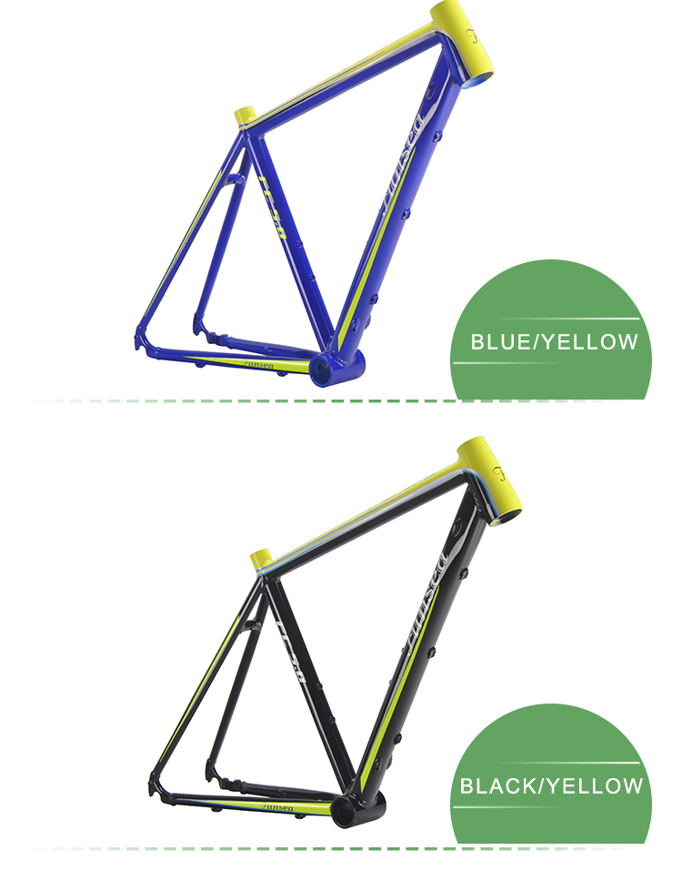 Excellent quality custom logo color painted racing bike frame alloy 6061 bicycle frame road bike frame in factory direct price