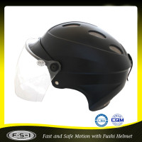 Cool Black scooter half face helmet hallery helmet for adult
