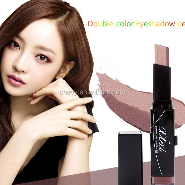 2017 Professional Earth Color Two - color Eye Shadow Silk Thread Pencil Blush Pen Velvet Eye Shadow Pen Eye Makeup Pearl