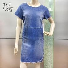 Factory price fashion clothes new style shift ladies denim dress