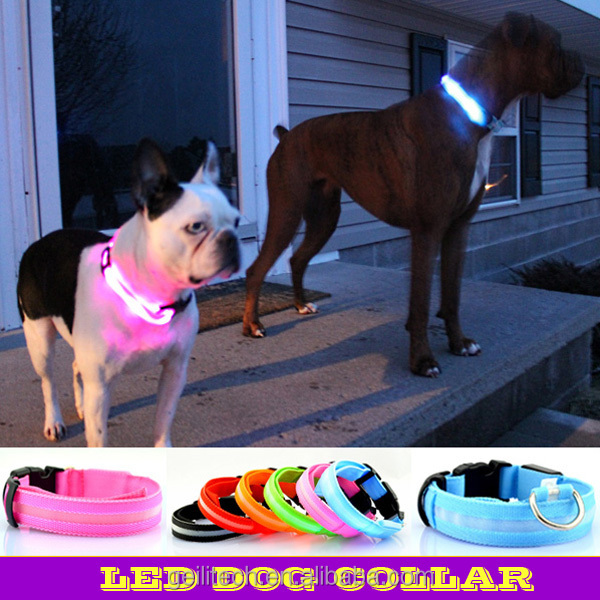Factory directly sale led dog collar for dog prodcuts 7 color and 4 size for choose