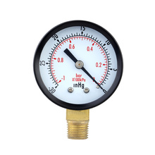 "0~-30inHg 0~-1bar 50mm 1/4""BSPT Mini Dial Pressure Gauge Meter vacuum gauge Manometer Double Scale"