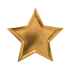Custom different shapes dinne plates star shaped paper plates