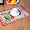 SGS test PP plastic table mat & coasters dining table mat with coffee design