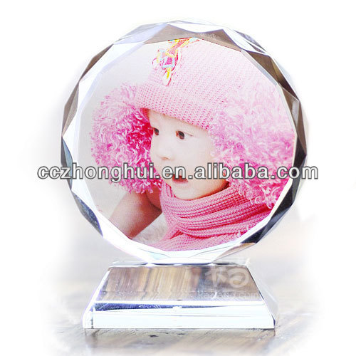 Beautiful crystal photo frame for christmas gift