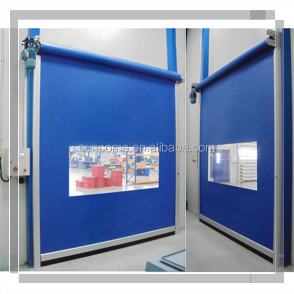 Using in low wind area interior smooth high speed fabric cleaning room door