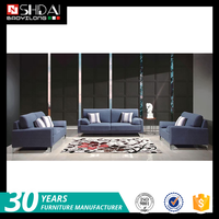 2016 modern home furniture design fabric sectional sofa set with metal feet G183-RE