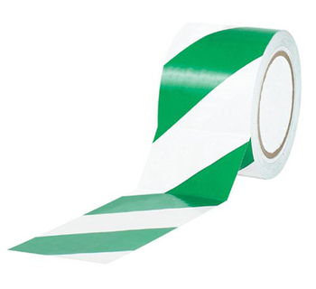 "2"" Wide Green White Safety Warning Tape"