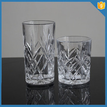 Tableware glassware fashioned slanted-bottom crystal whisky glass