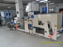 Hot melt glue pp non woven bag sack anilox roller coating machine for bag bottom seal