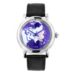 World map dial automatic watches men luxury brand 925 silver wrist watches oem