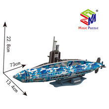 Submarine model 3D Paper Cardboard Jigsaw Puzzle