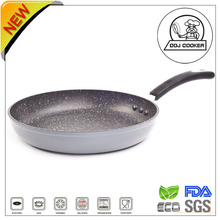Non-stick Aluminum Scratch Resistant Marble Coating Fry Pan As Seen On TV