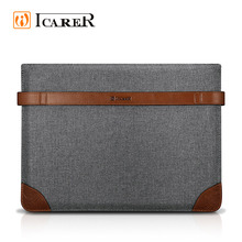 ICARER New Product Fabric and Leather Laptop Sleeve for ipad pro 12.9 inch
