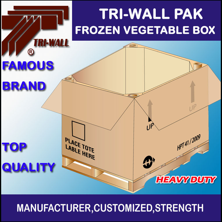 Heavy Duty Corrugated Frozen Vegetable Box Shipping Box
