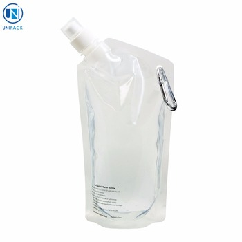 Promotional bpa free Collapsible Water liquid spout bag