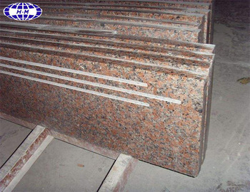 maple red G562 bullnose granite steps