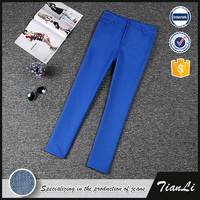 Twill Fabric Spring Straight Stretch Pants