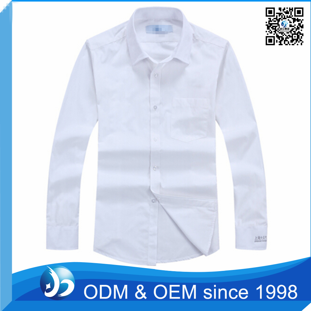 Mens slim fit white formal dress shirt uniform shirt buy for Buy white dress shirt