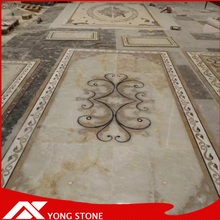 High quality factory cnc marble onyx stone water jet design medallion