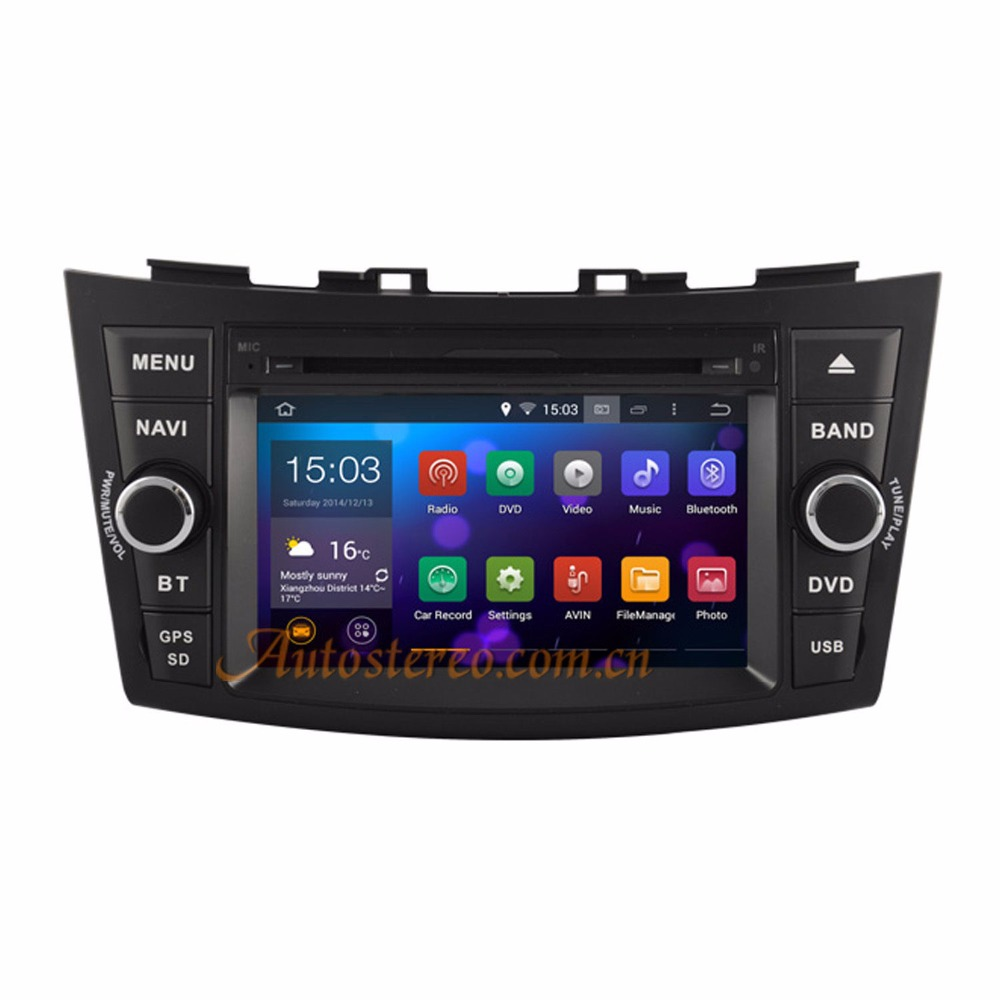 QUAD CORE Android 5.1.1 Two Din Car DVD Player Radio For SUZUKI SWIFT 2011-2016 Car GPS Android car stereo satnav