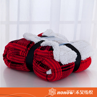 Factory sale plaid print baby blanket comfortable knee cotton blankets