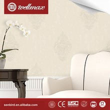 Wellmax classical flower designer pvc vinyl deep embossed wallpaper international wallcovering